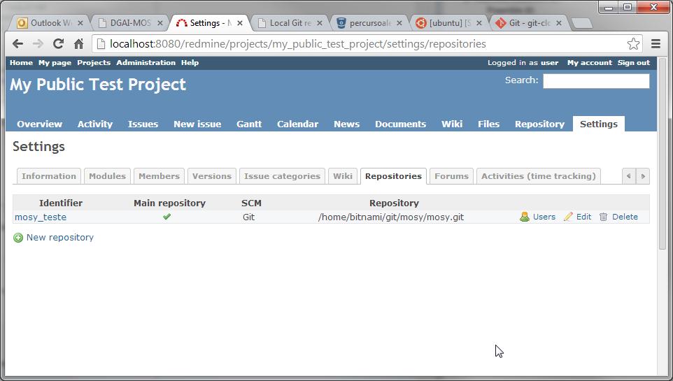 Redmine instalation — Wiser 0 1 documentation